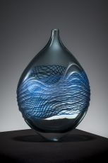 Wheel Carved Blown Glass Bowl by Edols & Elliott