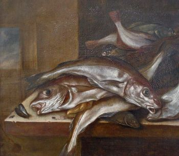 Still life with haddock by Jacob Gillig