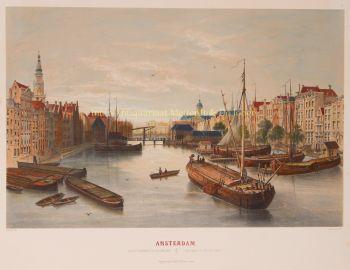 Amsterdam, Damrak  by  Frans Buffa & Zn.