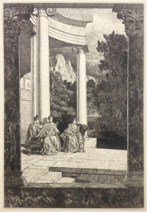 Psyche und ihre Schwestern/Psyche and her sisters by Max Klinger