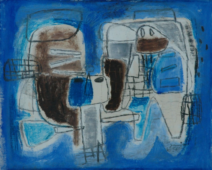 Composition with two figures by Jaap Nanninga