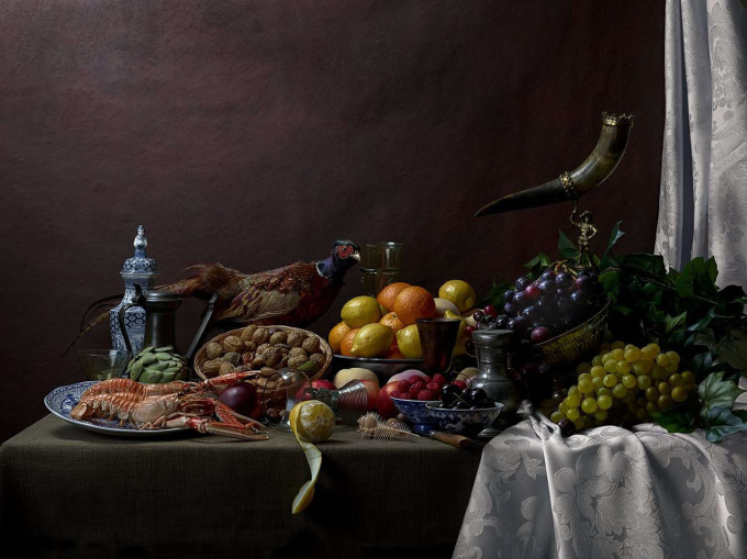 Pronkstillife with Pheasant by Jeroen Luijt