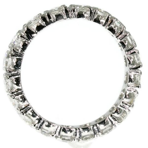 Estate platinum diamond eternity band by Unknown