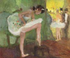Coulisses de la danse a l'Opera by Jean-Gabriel Domergue