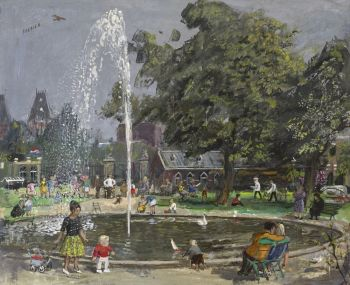 A summer day in the parc by Harm Kamerlingh Onnes