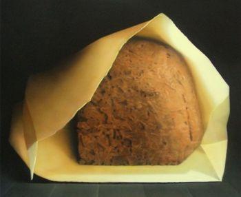 Broodje in papieren zakje by Elzo Dibbets