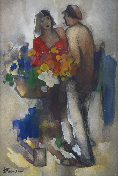 A flower girl by Jan Rijlaarsdam
