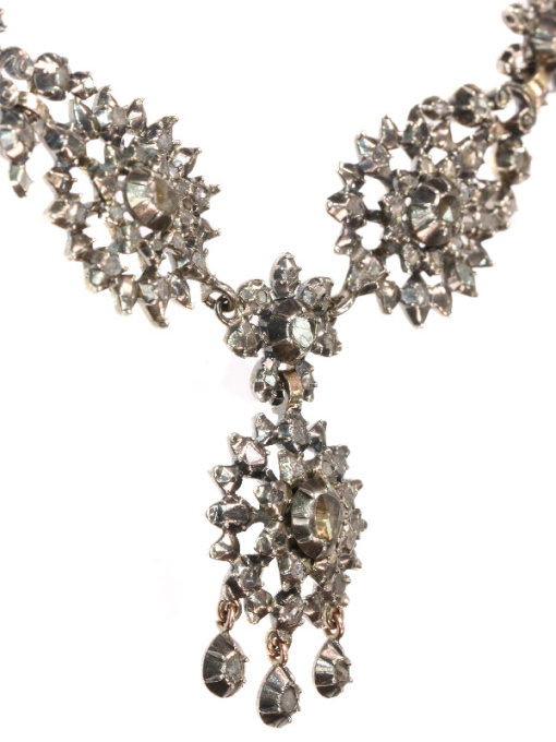 Antique Victorian diamond necklace by Unknown
