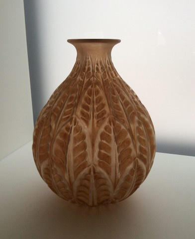 A Very Attractive Vase Malesherbes In Orange Patine