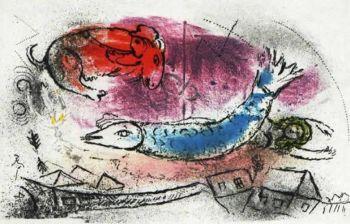 Le Poisson Bleu by Marc Chagall