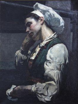 Young female in Italian dress by Hendrik J. Haverman