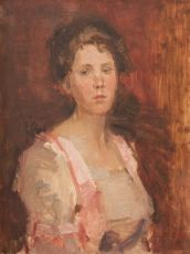 Portrait of a Lady with Fair Hair by Isaac Israels