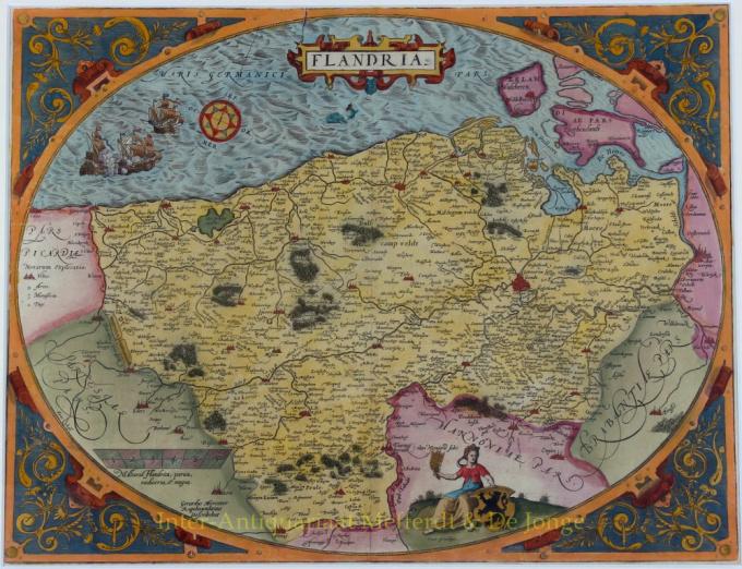 Flandria by Abraham Ortelius