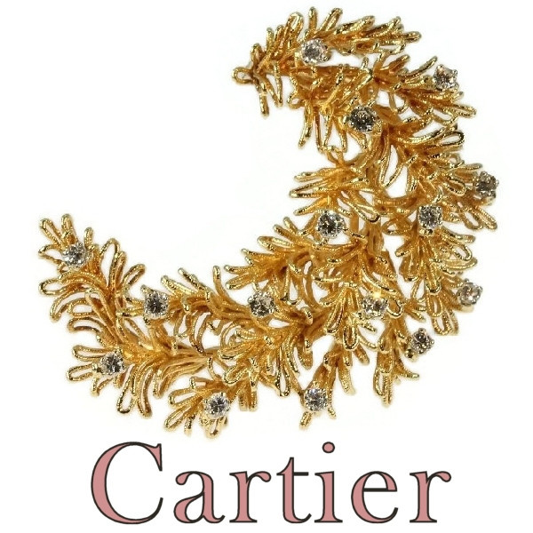 Cartier diamond and yellow gold brooch Cartier Paris by Cartier .