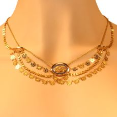 French antique gold necklace with enamel so-called collier d'esclave by Unknown Artist