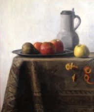 Still life with fruit by Thé Lau