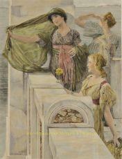 The Ever New Horizon  by Lawrence Alma-Tadema