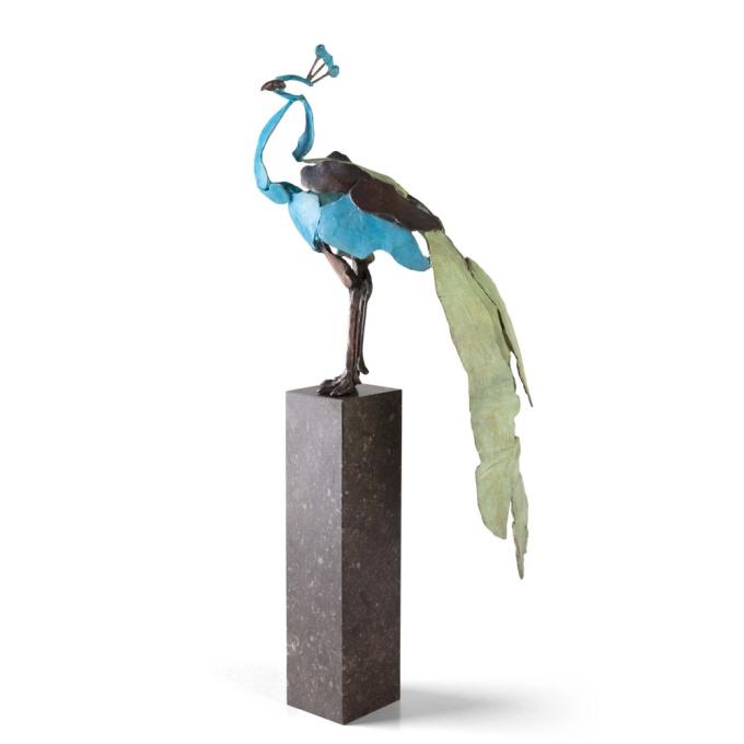 'Watchful' Peacock by Jozephine Wortelboer