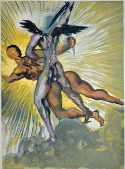 Divina commedia purgatorio 08 by Salvador Dali