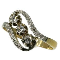 Elegant Belle Epoque diamond ring by Unknown Artist