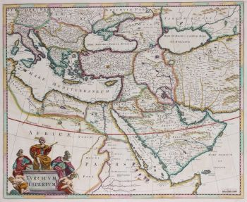 Ottoman Empire map  by Frederick de Wit