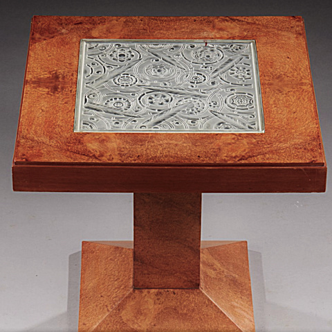 Art deco wooden table by Marius Ernest Sabino