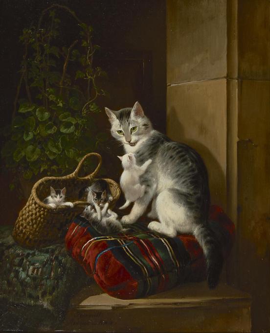 Kittens by Henriëtte Ronner-Knip