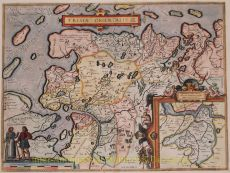 East Friesland antique map  by  Ortelius