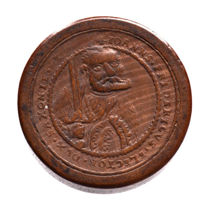 Deutscher, augsburger Brettstein aus Holz, Johann Friedrich I von Sachsen (1532-1547) nach Hans Rein by Unknown Artist