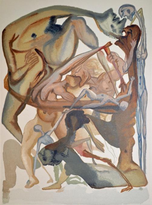 Divina commedia inferno 11 by Salvador Dali