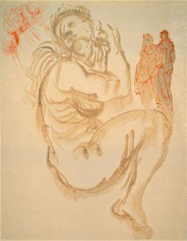 Divina commedia purgatorio 19 by Salvador Dali