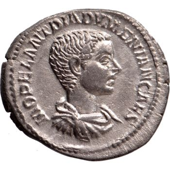 AR Denarius Diadumenian as caesar (217-218) by Unknown Artist