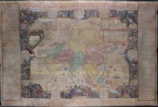 SPECTACULAR WALL MAP OF ASIA     by hendrik van loon