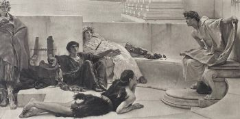 A READING FROM HOMER by Lawrence Alma-Tadema