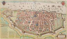 Antverpia, gravure vervaardigd door Georg Hoefnagel by Braun, Georg