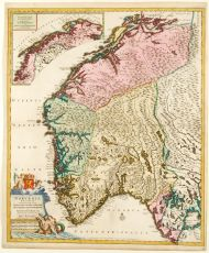 Norway antique map  by Cornelis Danckerts,