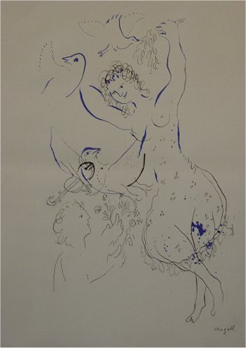 Dancer with Birds by Marc Chagall