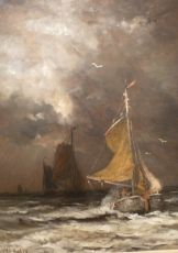 Stormy weather by Hendrik Willem Mesdag