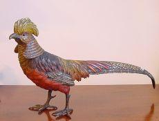 A Viennese Bronze Pheasant