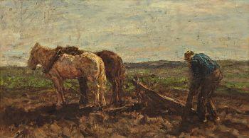 Plowing Farmer by Jacob Maris