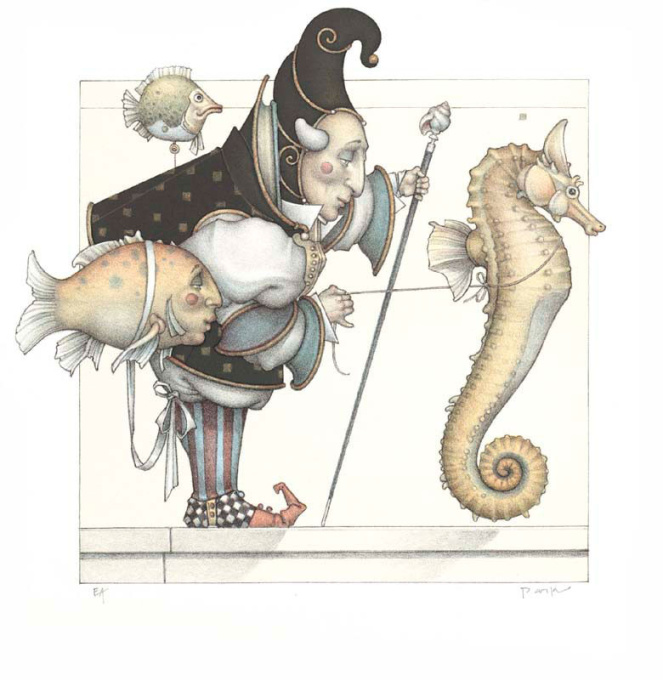 The Seahorse collector by Michael Parkes