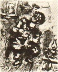 Le Savetier et le Leverancier by Marc Chagall