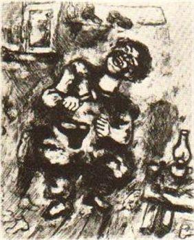 Le Savetier et le Leverancier by Marc Chagall