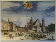 Binnenhof en Buitenhof Den Haag by Blaeu, Joan