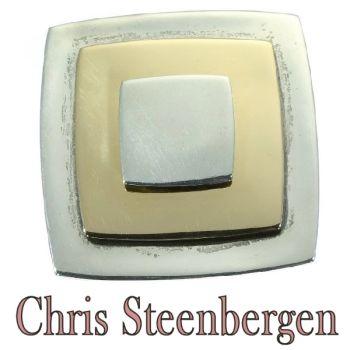 Artist Jewelry Chris Steenbergen gold and silver brooch by Chris Steenbergen