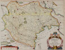 VROEGSTE KAART VAN HET KWARTIER ZUTPHEN by Geelkercken, Nicolaes van (ca. 1585 - 1656)