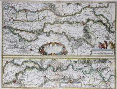 Map of Gelderland by Blaeu, Joan