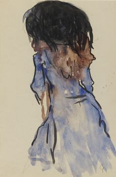 An elegant lady, seen from the back by Leo Gestel