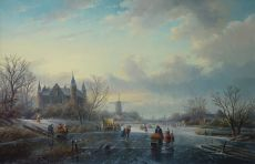 Winter landscape by Jan Jacob Spohler