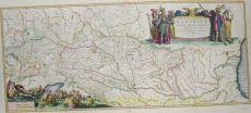 Danube map  by  Blaeu